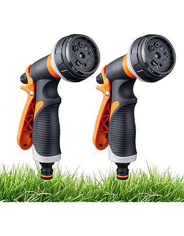 2 Pack Pistola de riego, Pistola de agua de jardín con 8 modos de ajustable