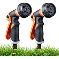WLZP 2 Pack Garden Hose Nozzle, 8 Adjustable Hose Spray Gun - High Pressure Hand Sprayer for Watering Lawn, Car Washing, Pet Bathing, Sidewalk Cleaning