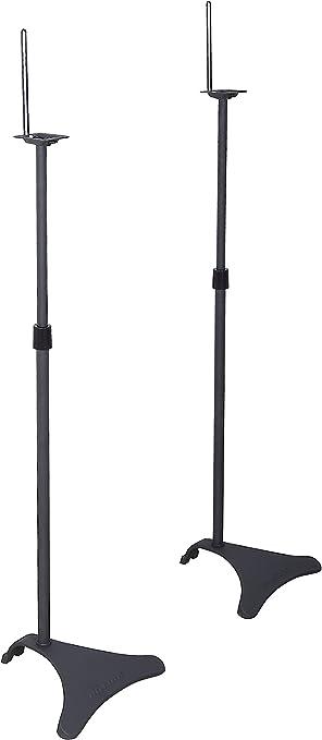 Black 2 Stands Per Pack Atlantic Satellite 77305018 2 Speaker Stands