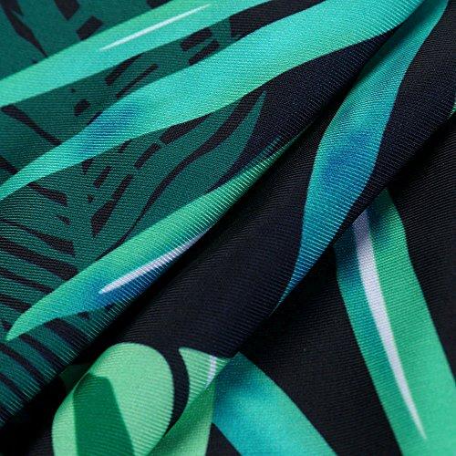Verde2 Costume Un Donne up Da Set Pezzo Costumi Interi Bagno Homebaby Donna Bikini Push Foglie Monokini Imbottito Ra0y8O