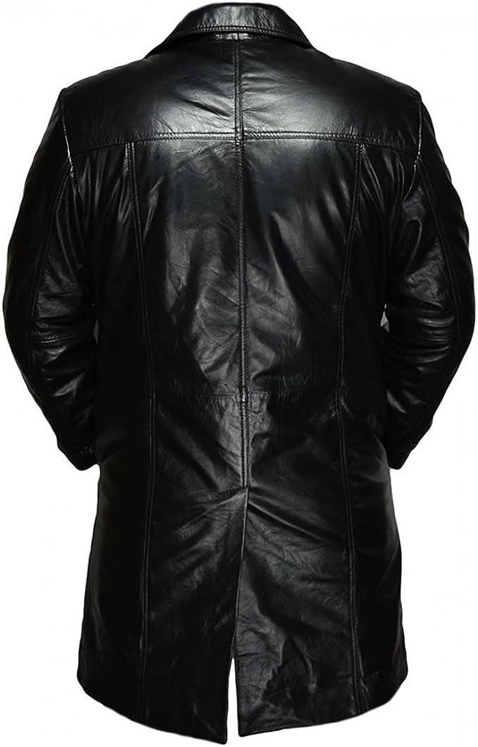 coolhides Mens Fashion Leather Jacket Black