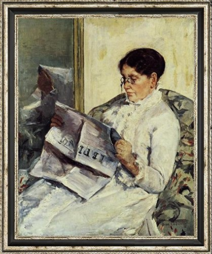 portrait-of-a-lady-also-known-as-reading-le-figaro-by-mary-cassatt-21-x-26-framed-canvas-art-print-r