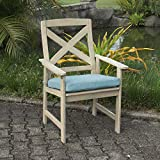Cheap Cambridge-Casual AMZ-121133BLU West Lake Dining Chair with Seat Pads (Set of 2), Weathered Grey with Spruce Blue