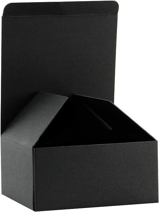 RUSPEPA Cajas De Regalo De Cartón Reciclado - Caja De Regalo Pequeña con Tapas para Manualidades, Magdalenas Y Galletas - 13X13X8 Cm - Paquete De 30 - Negro: Amazon.es: Hogar