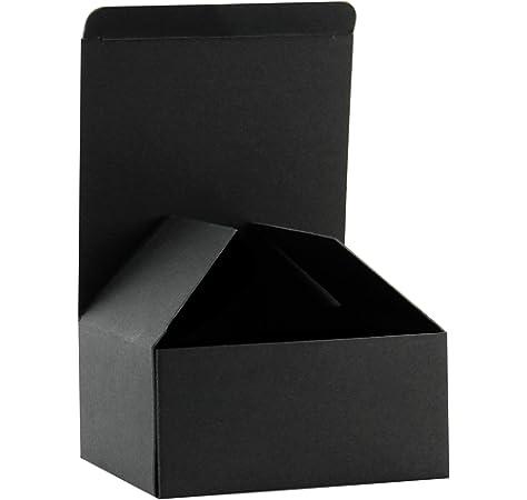 RUSPEPA Cajas De Regalo De Cartón Reciclado - Caja De Regalo Pequeña con Tapas para Pulseras, Joyas Y Regalos Pequeños - 10.5X10.5X5.2 cm - 30 Paquetes - Negro: Amazon.es: Hogar