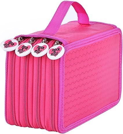 nuolux estuche escolar – Estuche escolar, estuche para lápices de colores Lápices 72 Slots bolsillo 4 (Rose Rojo): Amazon.es: Hogar