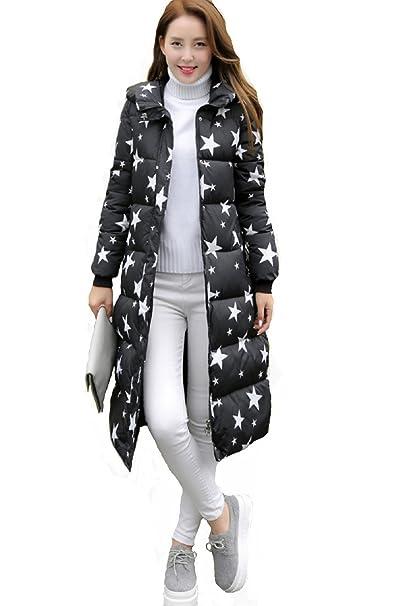 Doudoune Adeline, chaqueta plumífero capucha, Mujer, Doudoune montaña, abrigo Cintré, abrigo acolchado algodón, Doudoune Mode 2016 negro Large : Amazon.es: ...