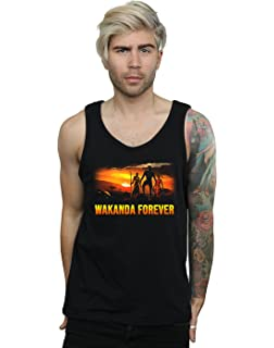 974eedb317f33 Marvel Men s Black Panther Character Montage Vest  Amazon.co.uk ...