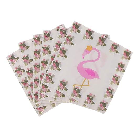 Paquete De 20 Servilletas De Papel Rosa Flamenco Cumpleaños ...