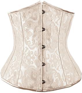 79cd875ca3 Amazon.com  BARGOOS Women Underbust Corset Belt for Halloween Plus ...