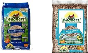 Wagner's 62004 Eastern Regional Wild Bird Food, 20-Pound Bag & 13008 Deluxe Wild Bird Food, 10-Pound Bag, Basic