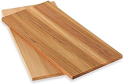 IAPYX Tablas para ahumar de madera de cedro, 4 unidades (2 juegos ...