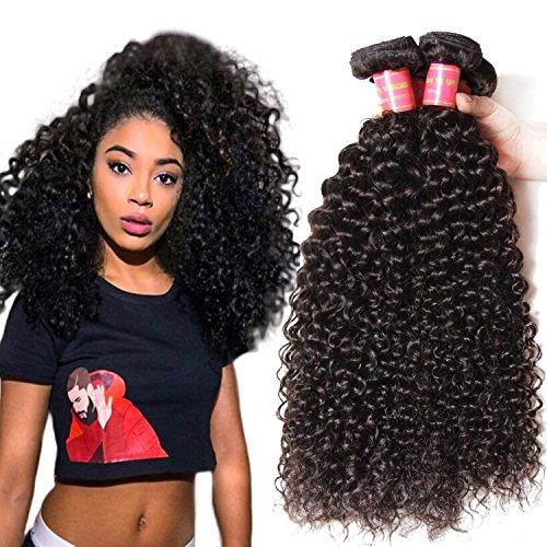 Longqi Indian Hair Jerry curly, 3 Bundles /Lot , 100% Unprocessed Brazilian Virgin Human Hair Weaves Natural Color (22 24 26inch - Q3 Hair Dryer