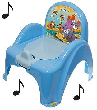 Pot de toilette musical pour b/éb/é enfant fauteuil chaise th/ème animaux Safari couleur Violet