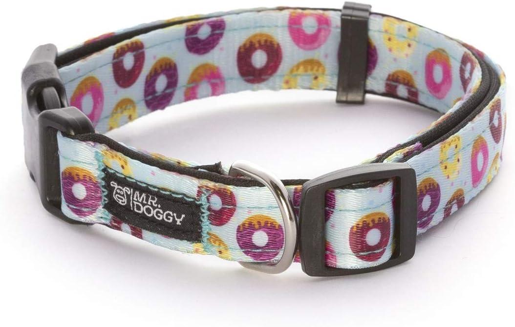 Collar Perro Nylon - Ajustable Tamaños - para Perros Pequeño, Mediano y Grande - Collares Accesorios Mascotas (M - 2 x 33-51 cm, Donuts)