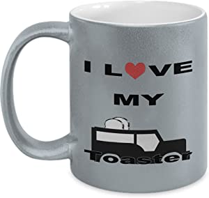 I Love My Toaster : Ideal Birthday or Thank You Gift For Car Lover Friend or Family - Metallic Mug By Anna Gold Memory : Made In USA