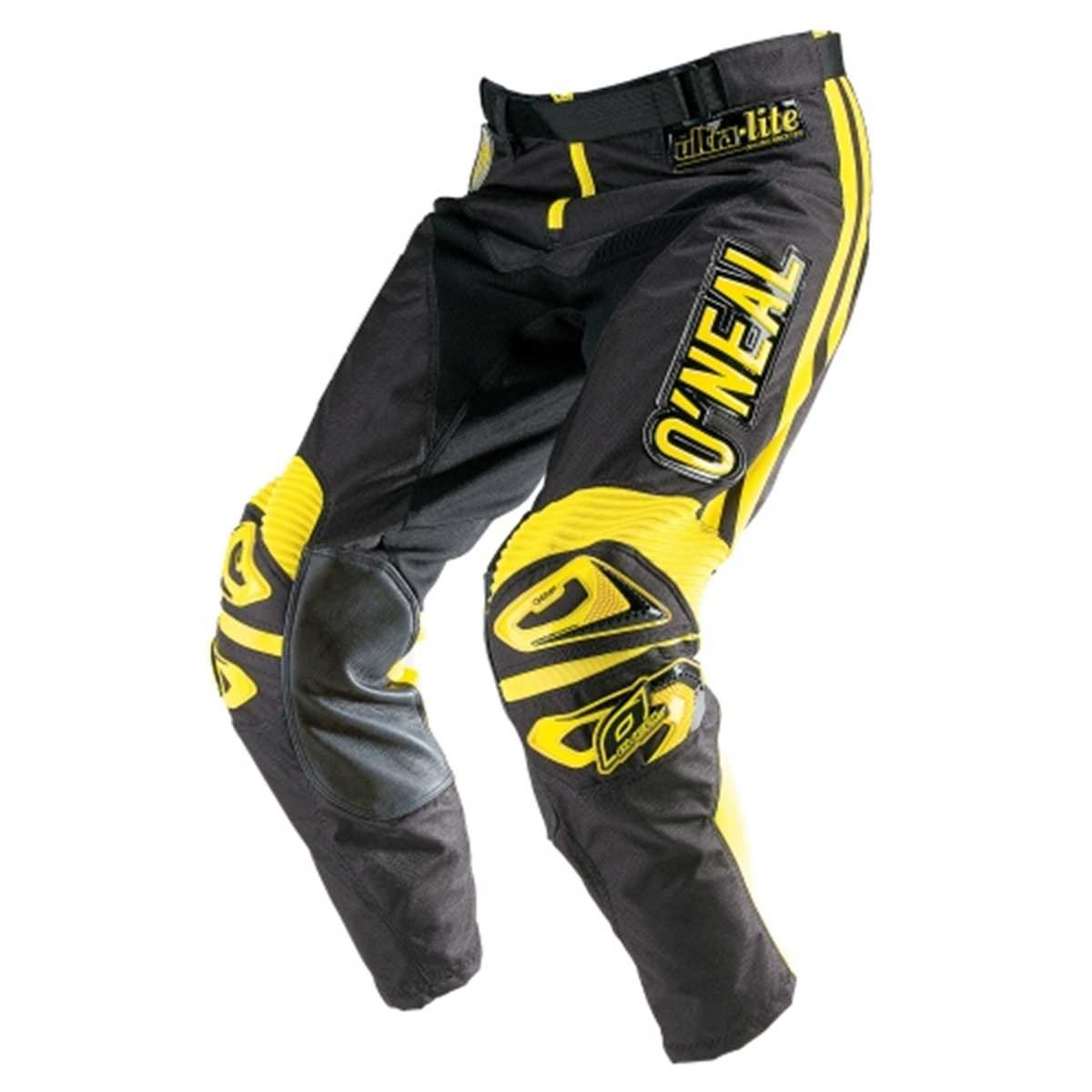 Black//Yellow, Size 36 ONeal Ultra Lite Limited Edition 70 Pants