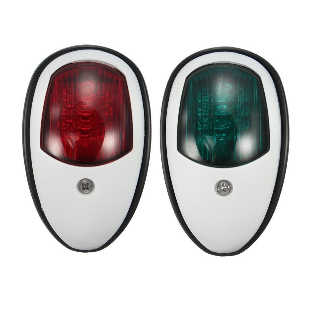 Rot LED Navigationslicht Positionslichter Leuchte Boot DC 12V bis 12m perfk 2pcs//Set Gr/ün