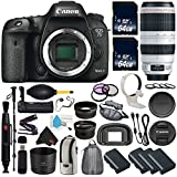 6Ave Canon EOS 7D Mark II DSLR Camera International version (No Warranty) + Canon EF 100-400mm L IS II USM Lens + Battery Grip Wildlife and Sports Photography Bundle