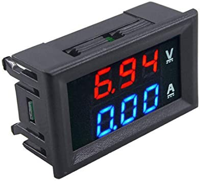 Amazon Com Dc 100v 10a 50a 100a Voltmeter Ammeter Led Dual Digital Volt Amp Meter Gauge 100a Voltmeter Ammeter W 100a Current Shunt Home Improvement