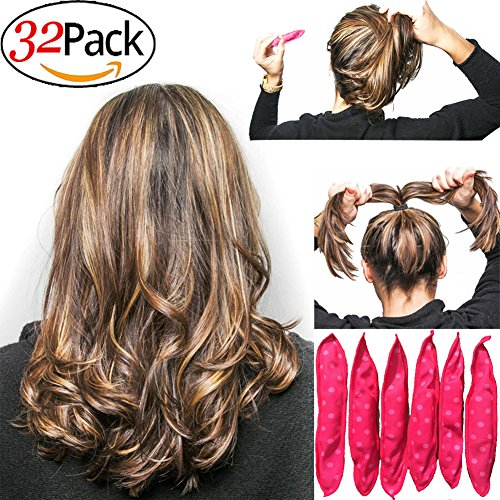 Sponge Flexible Foam Hair Curlers 32pcs Soft sleep Pillow hair Rollers set Magic hair care DIY Styling Tools