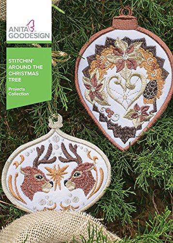 Anita Goodesign Embroidery Machine Designs CD Stitchin' Around the Christmas Tree