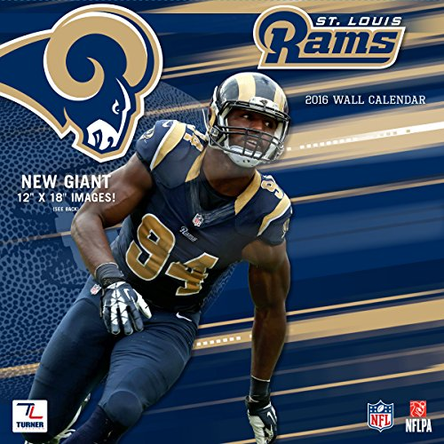 "Turner St Louis Rams 2016 Team Wall Calendar, September 2015 - December 2016, 12 x 12"" (8011927)"