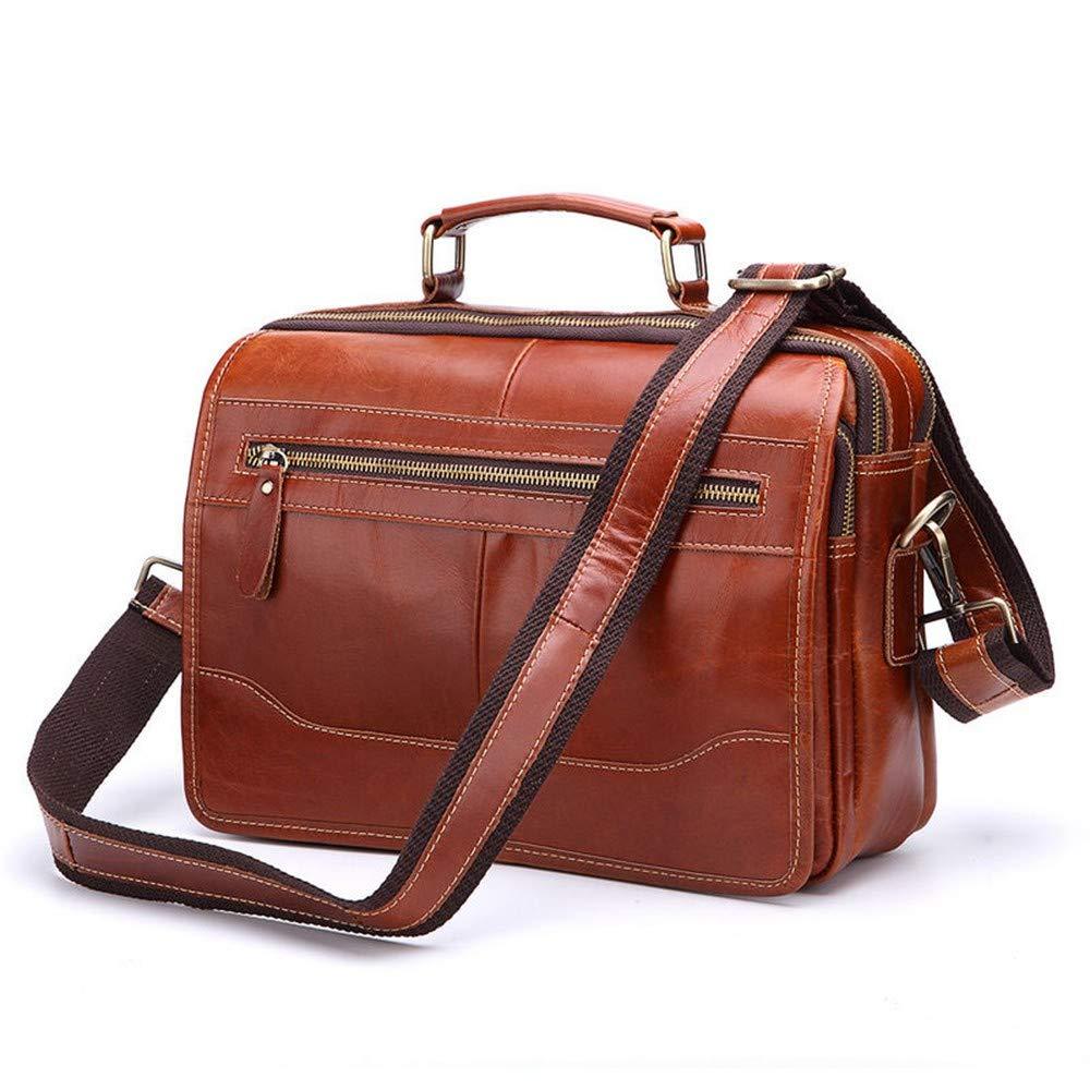 Lianaic Laptoptasche High End Leder Herren Aktentasche Laptop Tasche Herren Kombination Büro Tasche Echte   Messenger Tasche