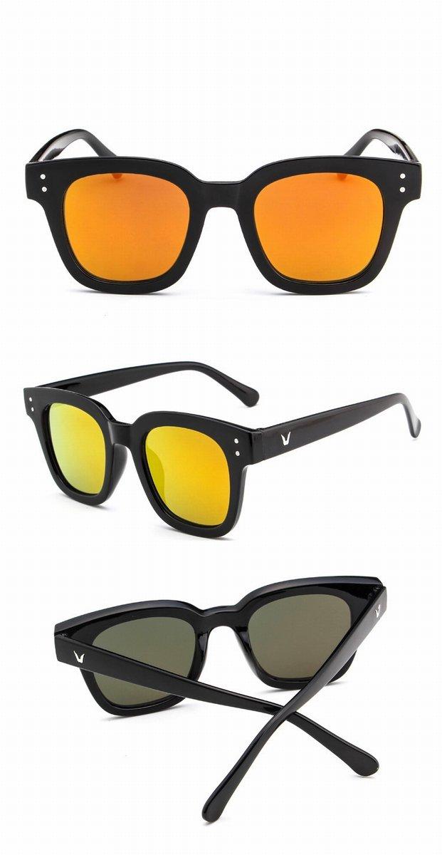 Personalisierte Sonnenbrille Retro Reis Nagelgläser Weibliche Farbe Objektiv Reflektierende Sonnenbrille Helles Schwarzes Graues Objektiv Duua4PZ