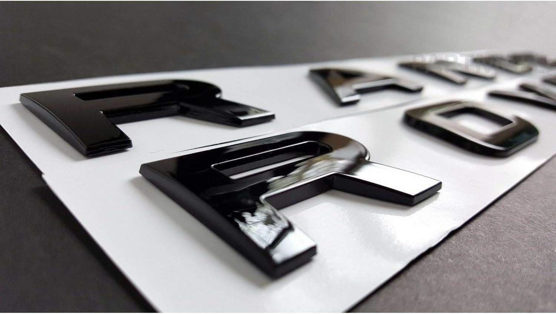 Fanuse Capucha Delantera Negra Brillante o Insignias del Maletero Trasero Letras Compatibles con el Emblema Range Rover Juego de 2