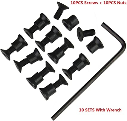 10 pcs Pack KeyMod Screw and Nut Replacement Set for Keymod Rail Sections