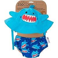 Zoocchini maillot/sombrero, diseño de tiburón S (3 – 6 meses)