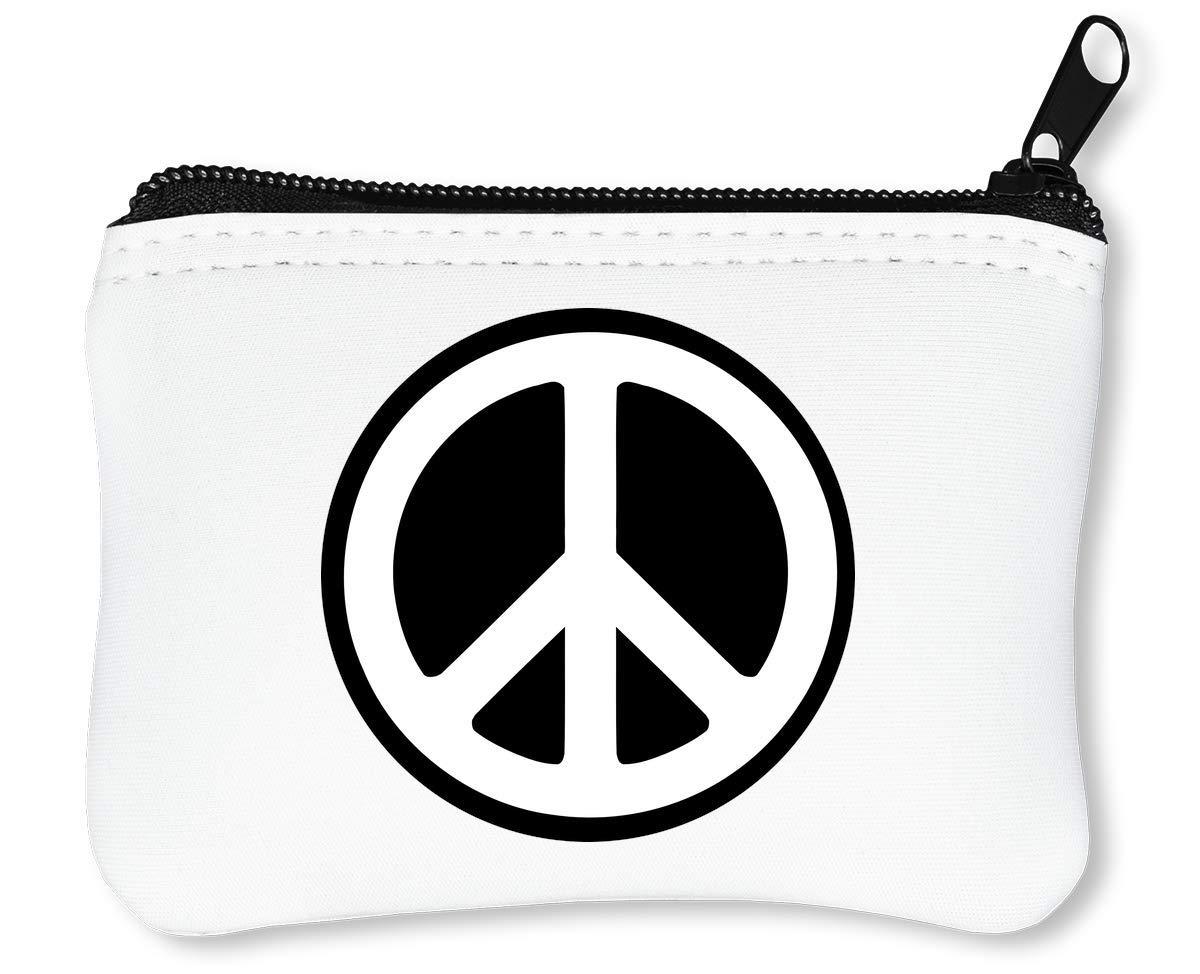 Hippie Peace Sigh Black Fonted Billetera con Cremallera ...