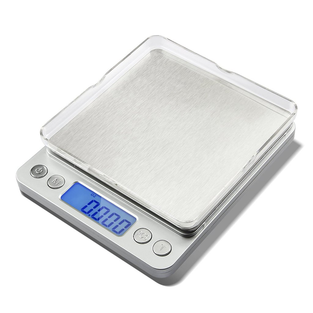 OLLGEN Mini Weigh Digital Pocket Scale Portable Jewelry Gram Scale with Backlight LCD Display Tare and PCS Features 2000 x 0.1 Gram