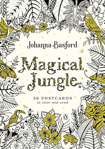 Magical Jungle: 36 Postcards to Color and -