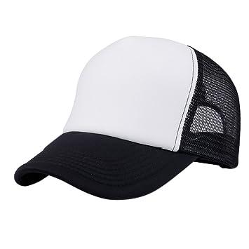 Chytaii Sombrero Gorro Visera Gorras de Béisbol Transpirable Sombrero Casual Gorra de Malla Visera Unisex Tamaño Ajustable (Negro): Amazon.es: Deportes y ...