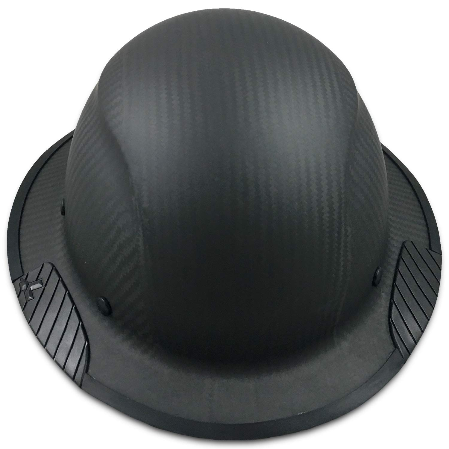 Texas America Safety Company Actual Carbon Fiber Material Hard Hat with Hard Hat Tote- Full Brim, Matte Black with Protective Edging by Texas America Safety Company (Image #5)