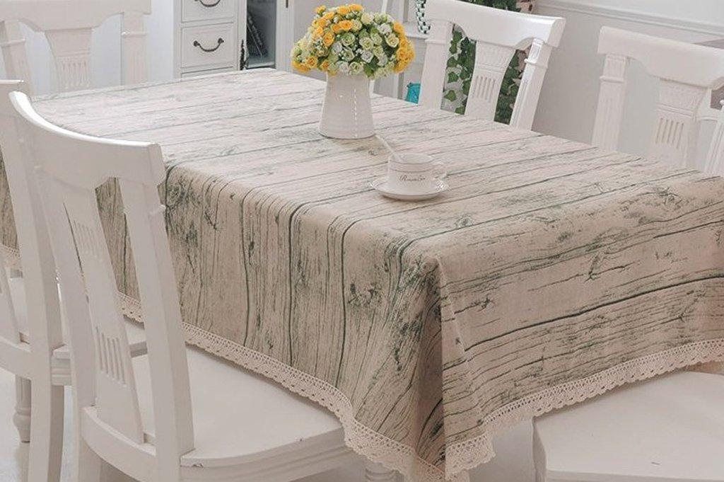HAOLIA Manteles de algodón y lino estilo mesa de café rectangular cubierto paño de mesa redonda tovaglie ( Tamaño : 150200cm )