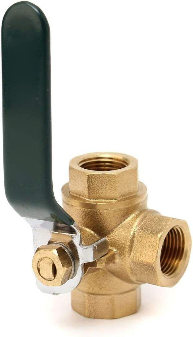 no-branded 4pcs Brass Ball Valve Fixed 3 Way Full L//T Type Port Thread Connector Faucet Value Water Filter Adapter Handle Valve ZYUS