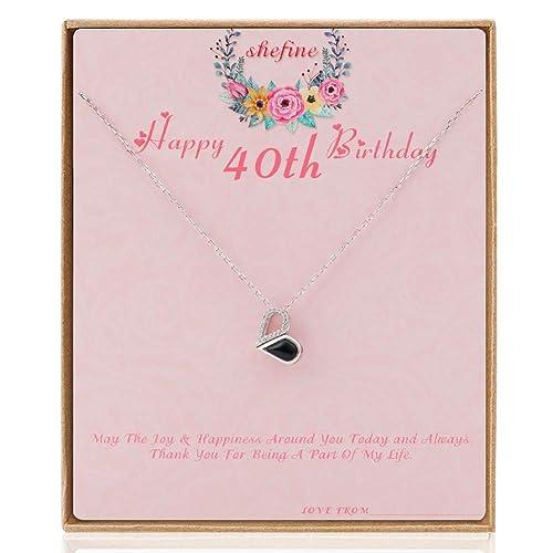 shefine Feliz 40 cumpleaños: Amazon.es: Joyería