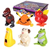 Amyove Wind Up Toys 12pcs Wind Up Toys Baby Classic Cute Cartoon Animal Clockwork Kids Children Educational Toy Gift
