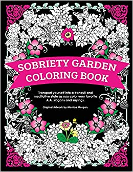 amazon.com: sobriety garden coloring book: transport yourself into ... - Ad Aa A A Coloring Pages