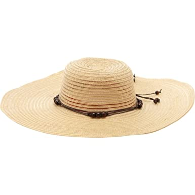 673ab736 MAGID Floppy Semi Sheer Paper Straw Sun Hat, Natural at Amazon ...