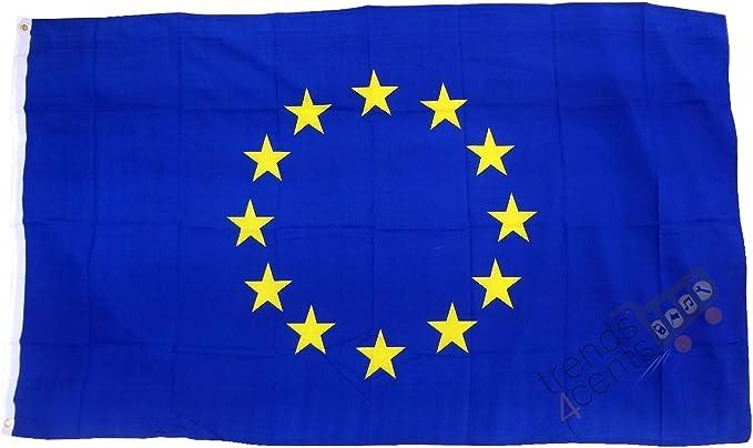 Bandera oficial de la Unión Europea 150x90cm: Amazon.es: Hogar