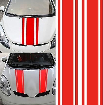 WUHULA 2 Pezzi Adesivi per Gonna Strisce Laterali Portiera Decalcomania del Vinile per Ford Ecosport Decorazione di Corse Sportive per Carrozzeria