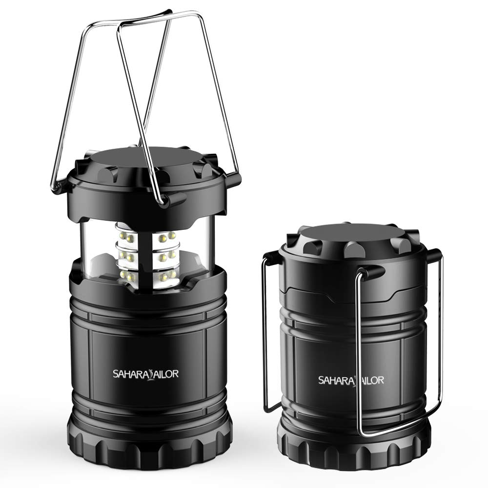 New Ultra Bright LED Lantern - Camping Lantern - Collapses - Suitable for: Hiking, Camping, Emergencies, Hurricanes, Outages - Super Bright - Lightweight - Water Resistant