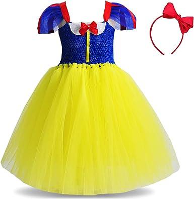 Princess Snow White Costume Cosplay Baby Kids Girls Tutu Party Fancy Dress 1-6Y