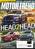 MOTOR TREND 2017 Name Label on Magazine Darkened Out MAZDA CX-5 vs HONDA CR-V Camaro ZL1 SHELBY GT350R Supercar Shootout Ford GT vs McLaren 720S FASTEST PONYCARS + BEST SMALL SUVS
