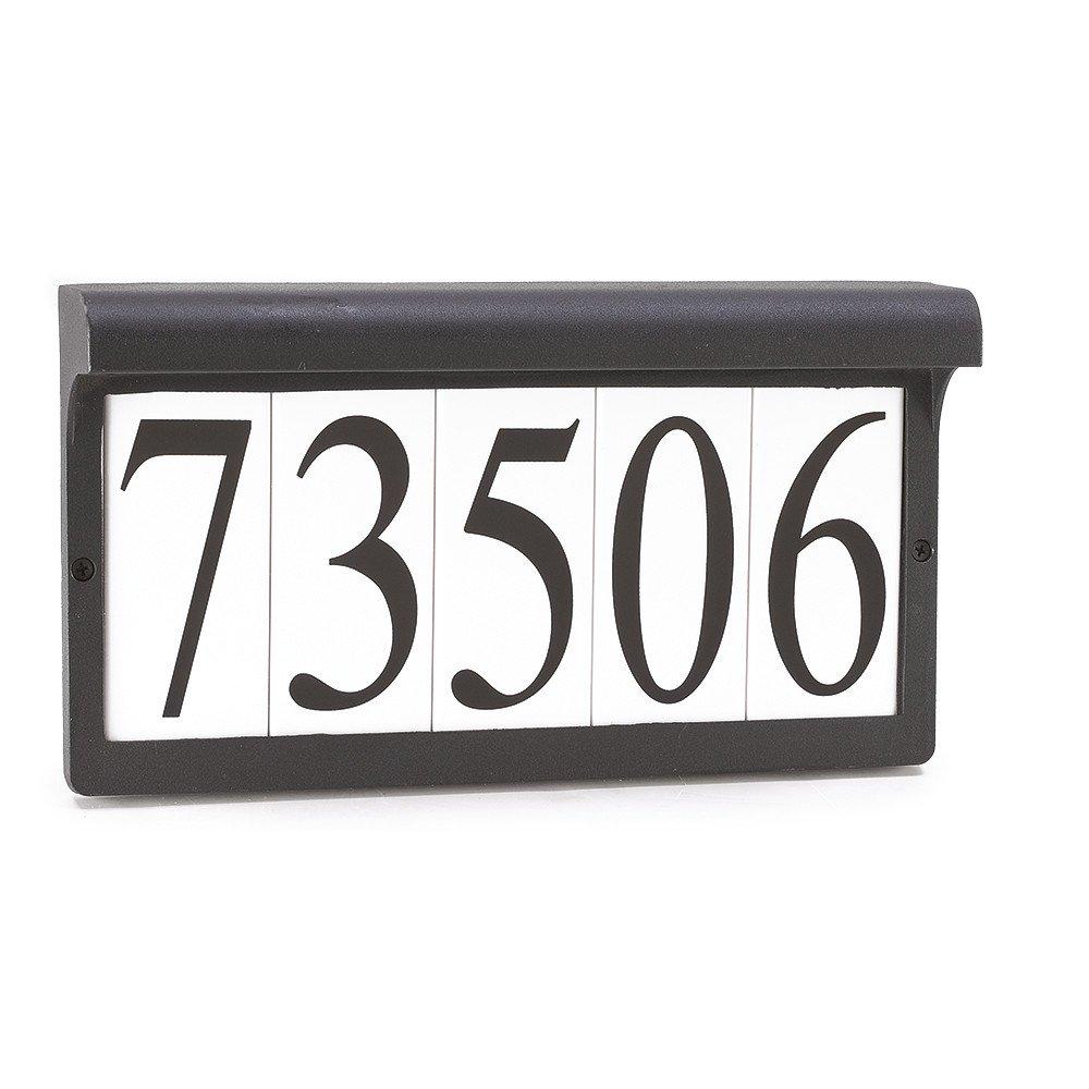 Sea Gull Lighting 9600-12 Address Light Fixture, Black Finish