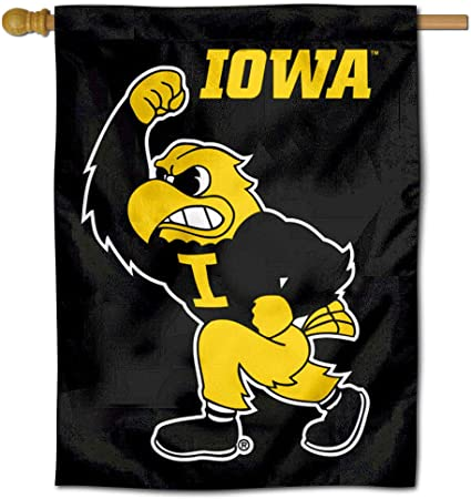 College Flags and Banners Co University of Iowa Hawkeyes House Flag